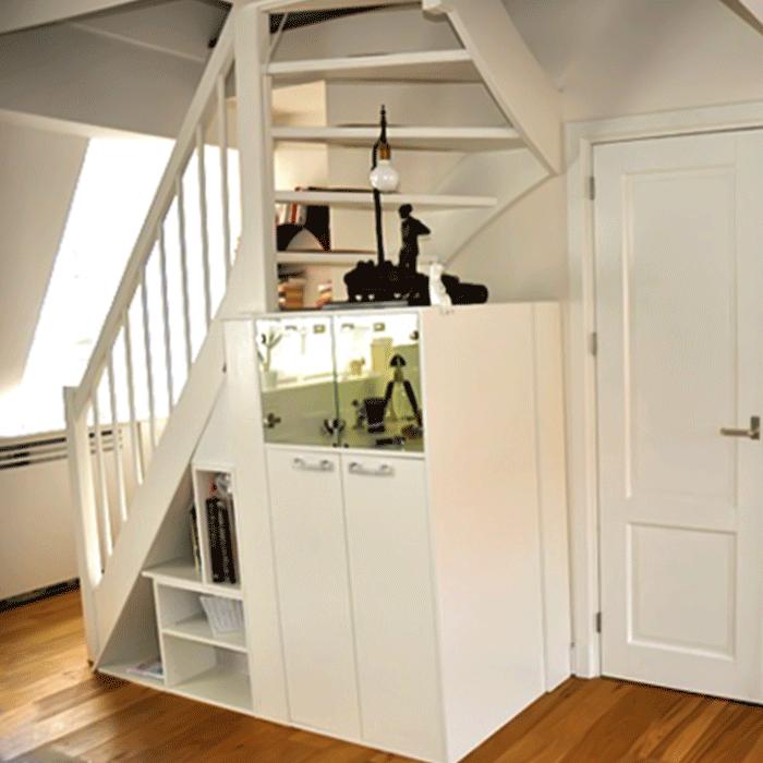 New kast-onder-trap - Een Kast Op Maat #XK39