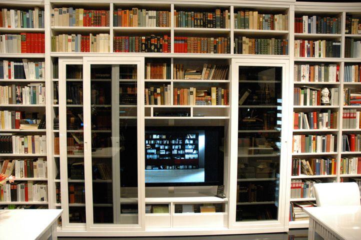 Een bibliotheek kast op maat modern en uniek bij een kast op maat - Op maat gemaakte bibliotheek ...